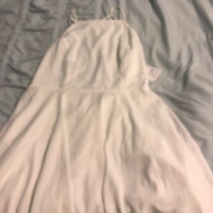Nordstrom white fitted waist dress with cool back